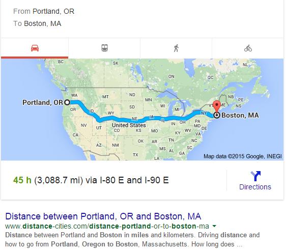 portlnad umpqua distance boston