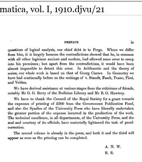russell logic error year 1910